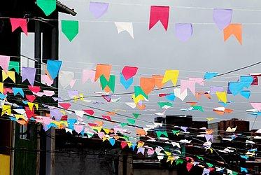 Bandeirolas em Cidade Nova