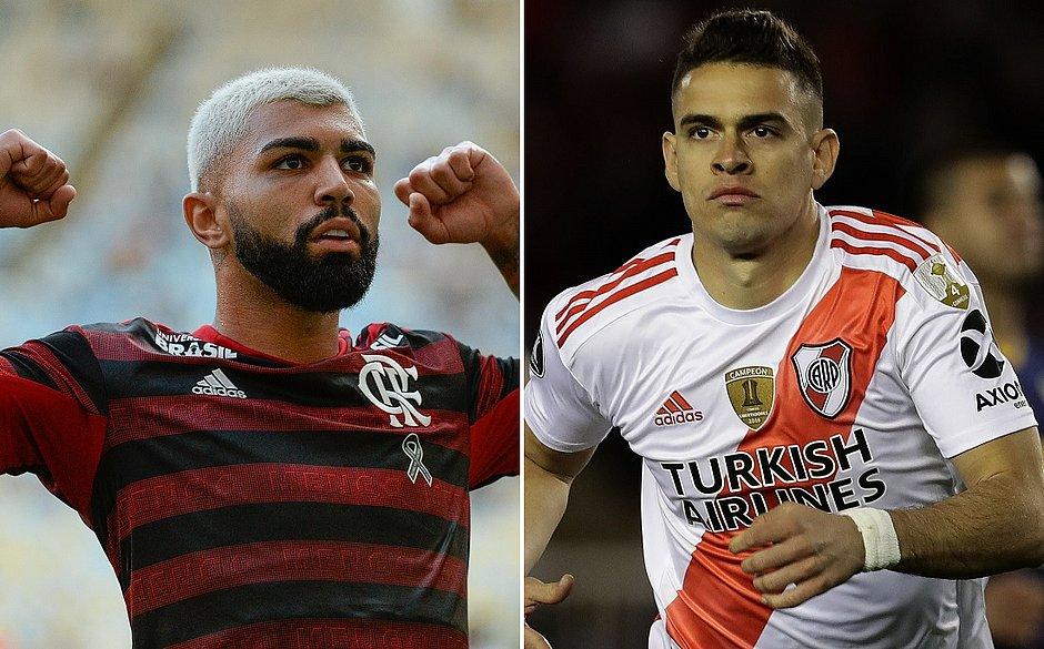 Gabigol e Borré estarão frente a frente na final da Libertadores
