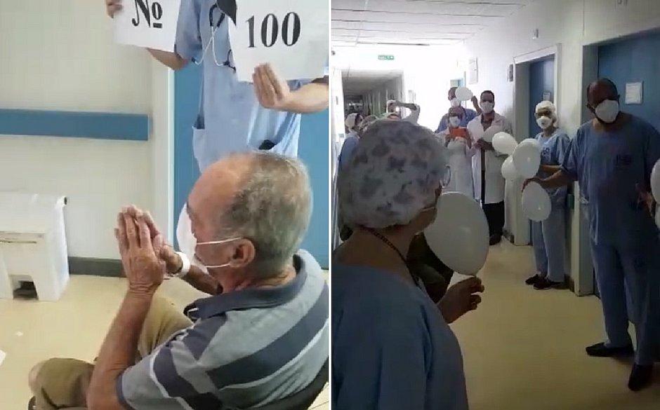 Idoso de 81 anos é o 100º paciente com covid-19 a ter alta no Hospital Português