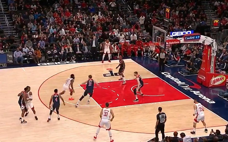 Harden marca 59 pontos e Rockets vencem Wizards na NBA