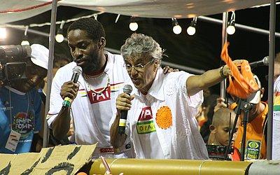 Lázaro Ramos e Caetano em 2007