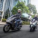 A Honda PCX é a scooter mais vendida no Brasil e também no mercado baiano. Com 13,2 cv de potência ela chega fazer 30 km/l na cidade