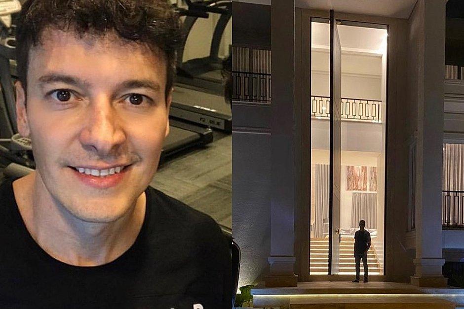 Rodrigo Faro posta em casa e porta gigante rouba a cena