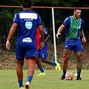 Fernandão treina com bola pela primeira vez no Fazendão