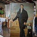 José Teófilo de Jesus é um dos artistas mais velhos dessa geração; ele fez 23 retratos para o Convento da Piedade