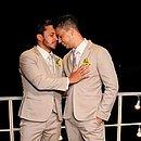 Lucas Guimarães e Carlinhos Maia no dia do casamento
