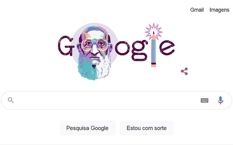 Google homenageia Paulo Freire com Doodle sobre centenário do educador