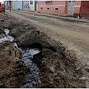 Rede de tubulação de água foi danifica durante ação dos criminosos