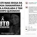 Moradores lamentaram a morte de Rosinha do Beco