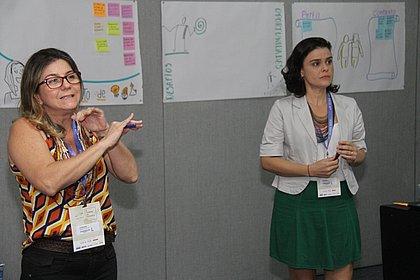 Lucenir Gomes e Iracema Marques conduziram workshop