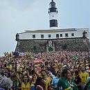 Fan fest na Barra em 2014, durante a Copa do Mundo no Brasil