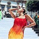 Anitta em gravação no Pelourinho