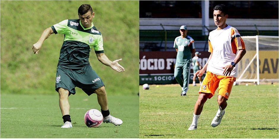 Ruy (à esquerda) e Danielzinho são meias que agradam a Chamusca (Mourão  Panda   América-MG e Mailson Santana   Fluminense) 9b044a4c2307b