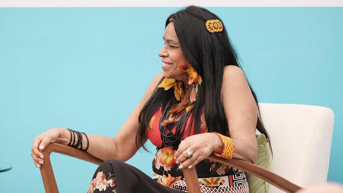 A professora, escritora e ativista carioca Eliane Potiguar também participou da mesa A Imperdoável Capacidade Humana de Apagar seus Antepassados