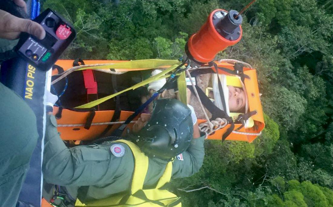 Vítima foi resgatada pelo Graer