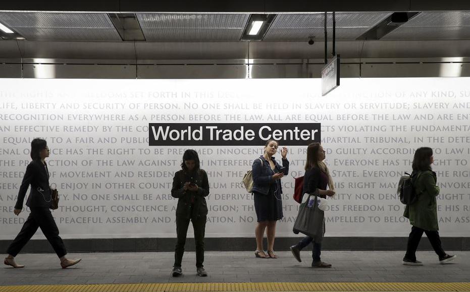 A estação de Cortland Street do metrô nova-iorquino foi recém-inaugurada, após ter sido soterrada pelos pelos ataques terroristas do 11/9 e permanecer fechada por 17 anos.