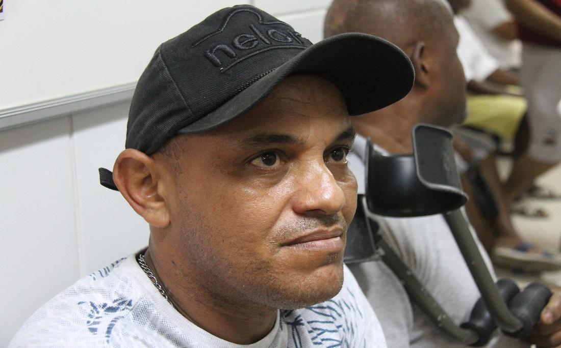 O auxiliar de manutenção paulo Sérgio, de 44 anos, fez o exame pela primeira vez.