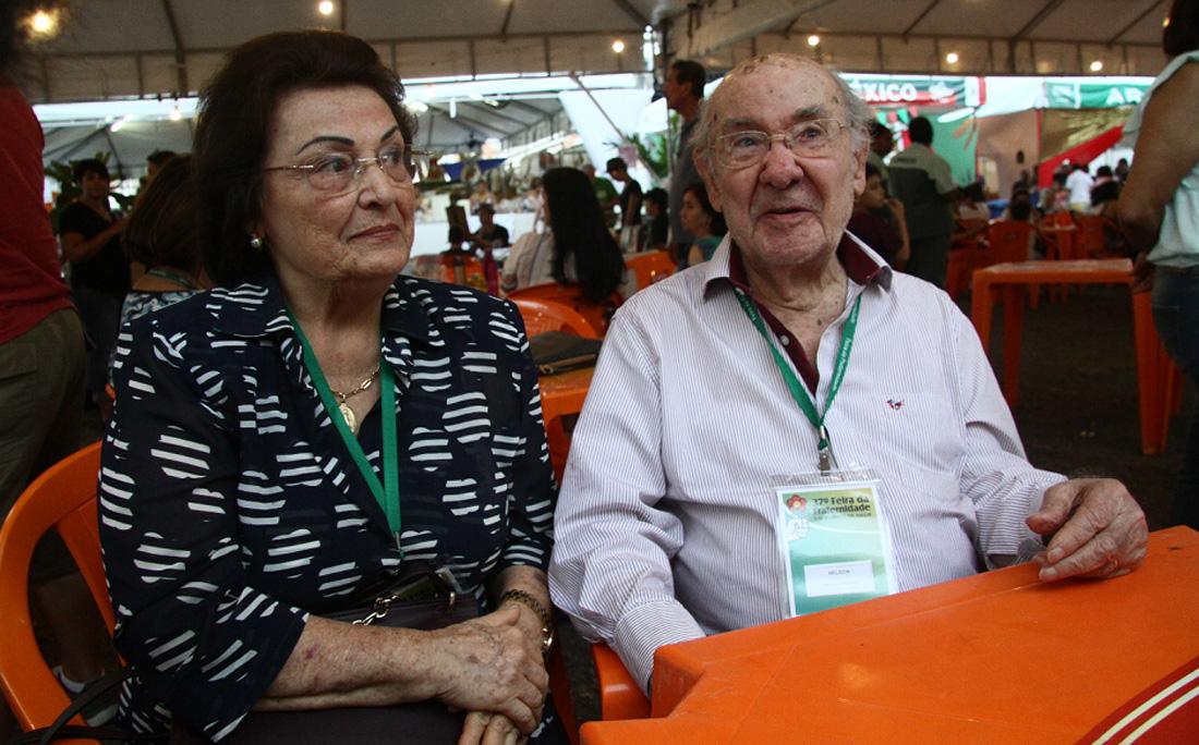 Dona Mary e Seu Nelson: voluntários desde a primeira edição