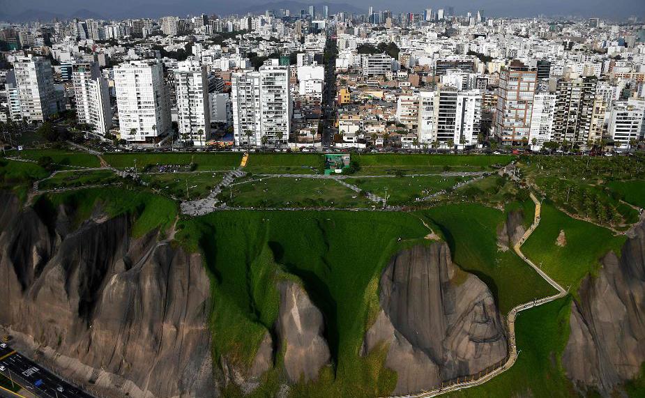 Vista aérea de Lima, Peru.