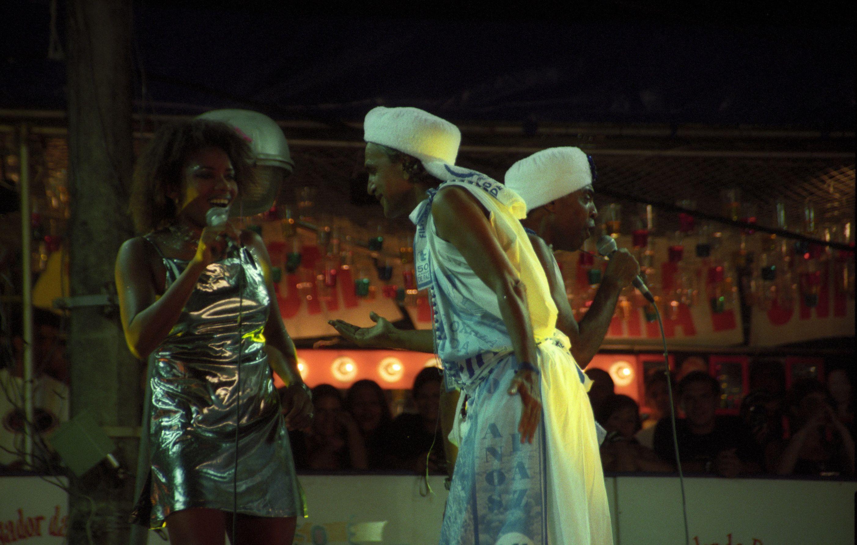Com Caetano e Gil no Carnaval 1999