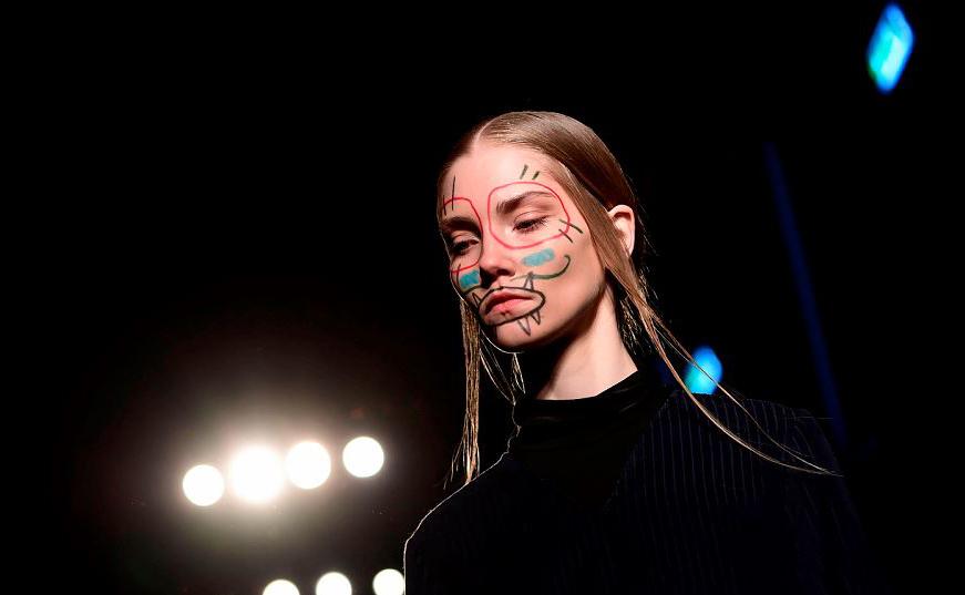 Desfile da estilista Alexandra Moura durante a temporada Outono/Inverno 2019/2020 de Milão.