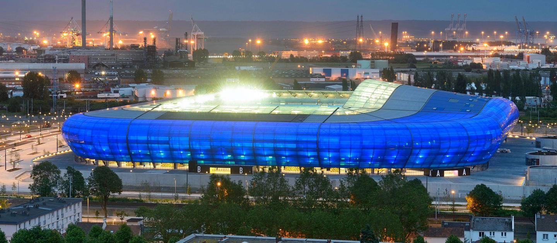 Stade Océane: um dos estádios modestos deste Mundial, comporta pouco mais de 25 mil torcedores. Fica em Le Havre
