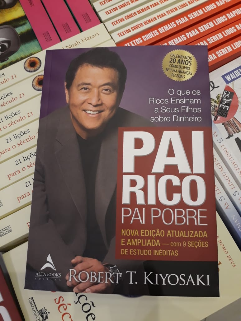 Livro Pai Rico Pai Pobre - Livraria Saraiva - R$ 39,90