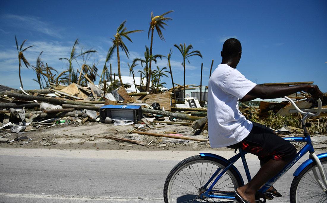 Destruição nas Bahamas