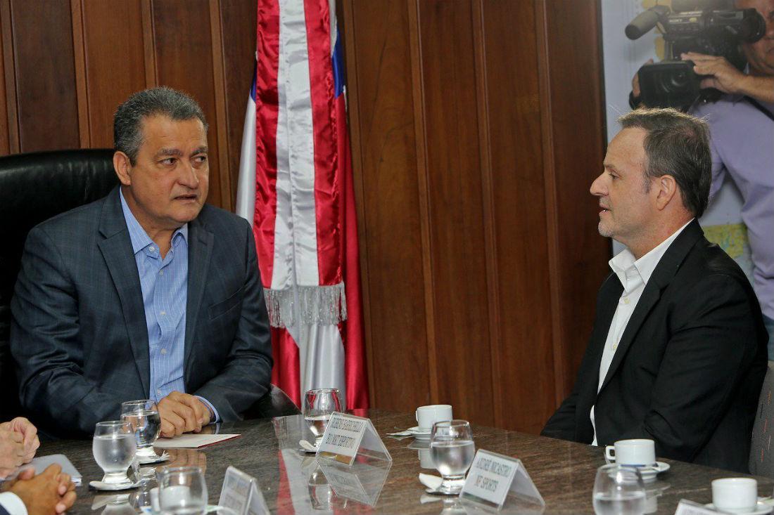 Governador Rui Costa recebeu Rubens Barrichello
