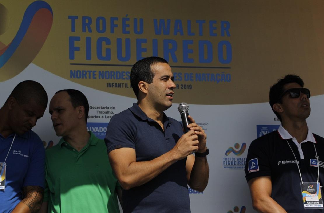 Vice-prefeito Bruno Reis esteve na solenidade de abertura