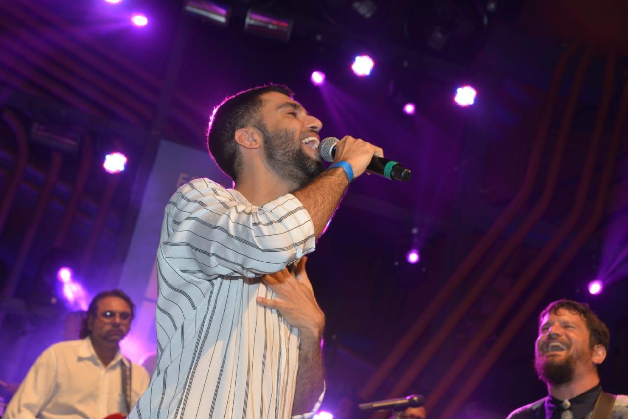 Silva cantou no evento