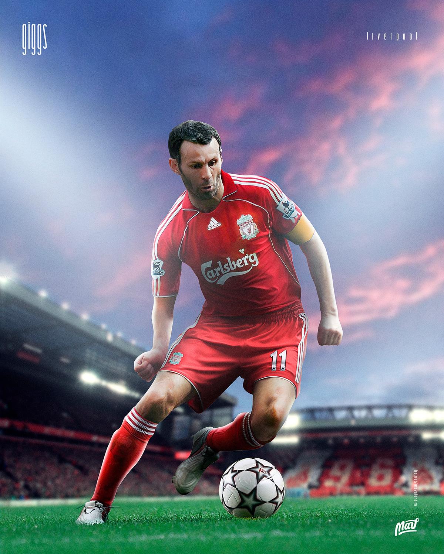 Giggs com a camisa do Liverpool