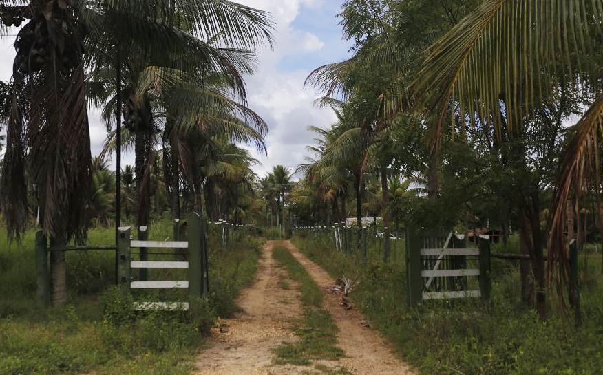 Entrada da Fazenda onde o miliciano estava escondido