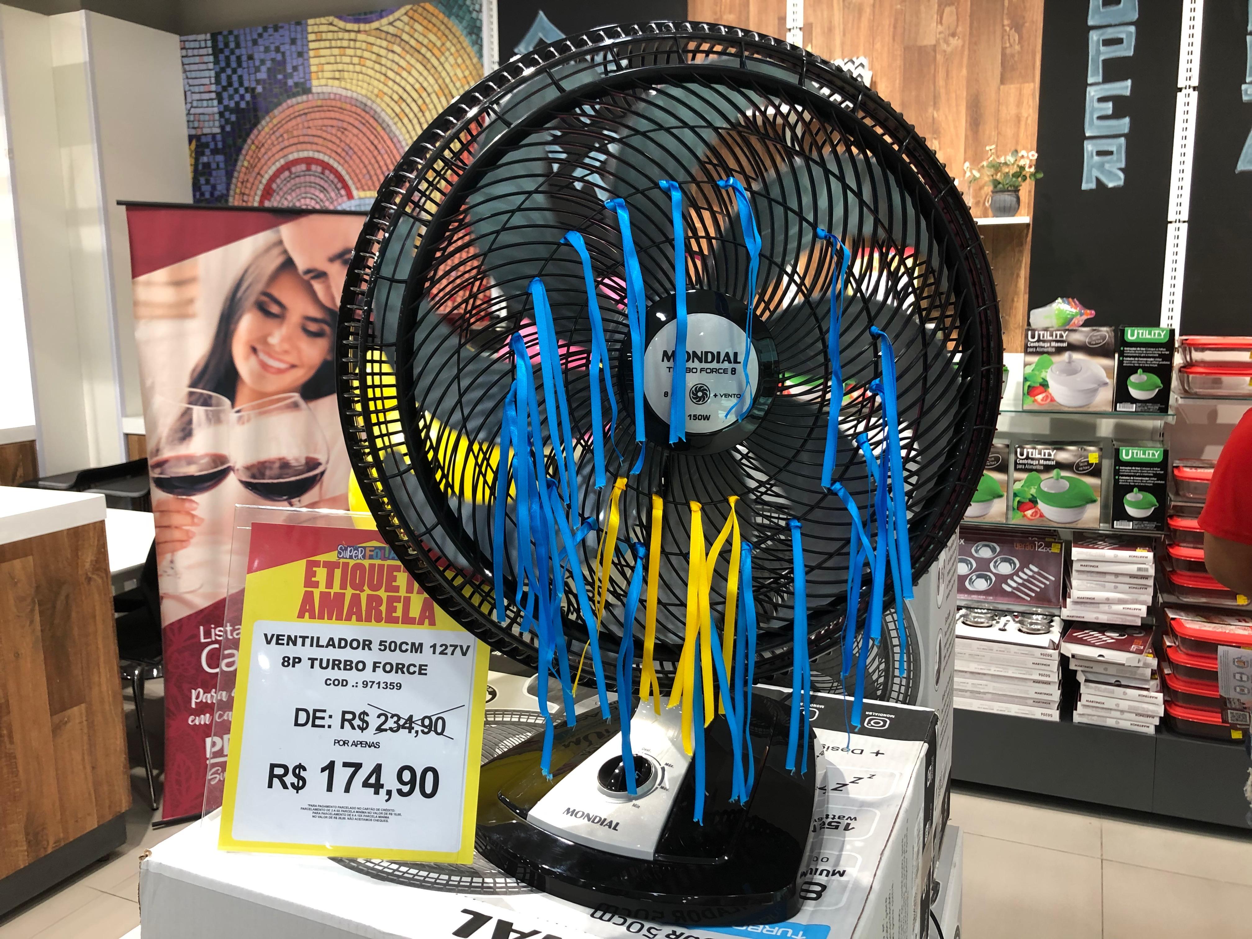 Ventilador Turbo oito pás Mondial (Preçolandia - Salvador Shopping) de R$ 234,9 por R$ 174,9 (25,5%)