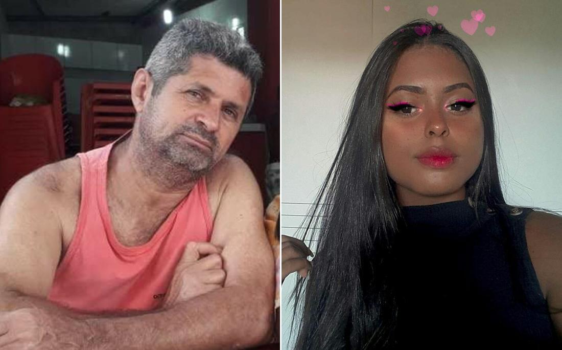 Agrinaldo dos Santos e a filha Natália Cristina dos Santos