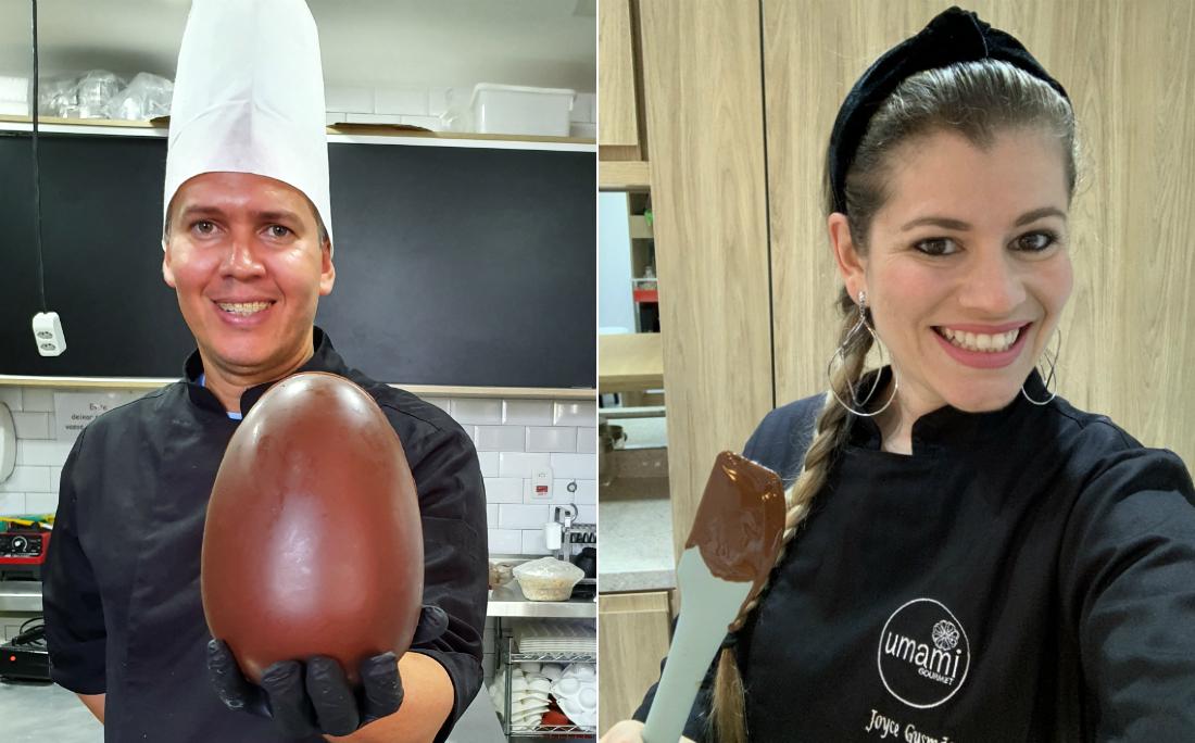 Chefs Thiago Sá e Joyce Gusmão aceitaram a missão e ensinaram aos leitores