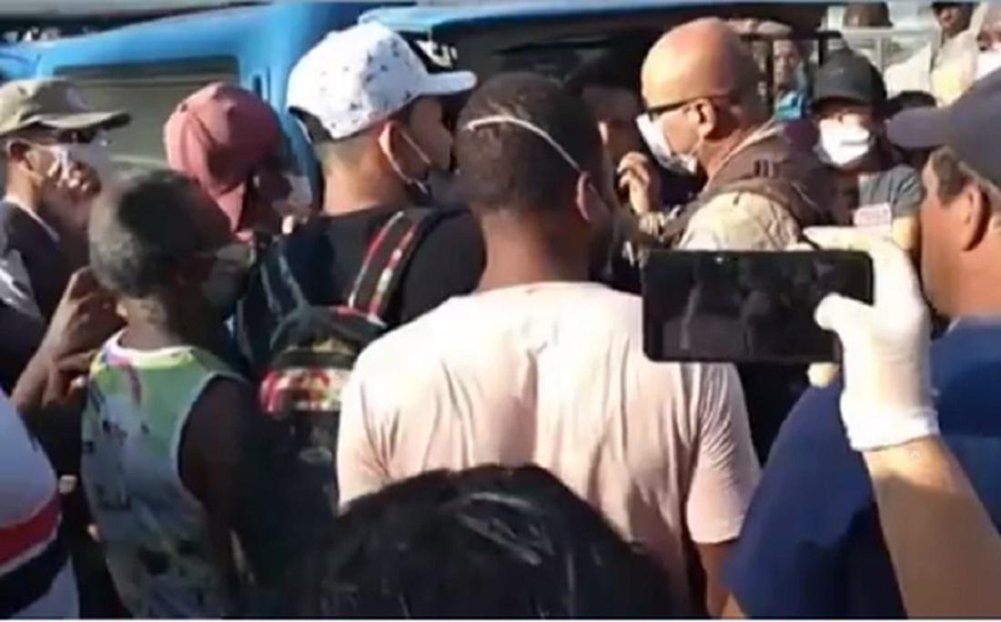 Polícia militar foi acionada para tentar impedir a reocupação do grupo