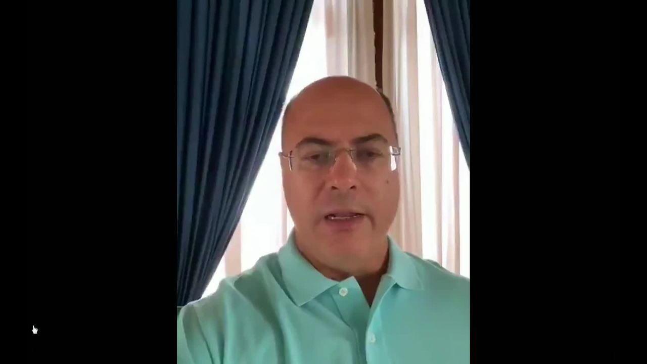 Governador Wilson Witzel fez vídeo para contar que está com coronavírus