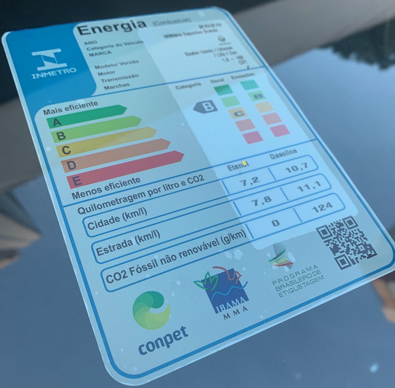 Antes de comprar um automóvel confira a etiqueta de consumo