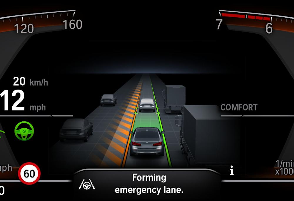 Se o motorista sair da faixa de rolamento,  o veículo pode emitir um alerta sonoro e/ou vibrar o volante. Em alguns casos, pode corrigir a rota