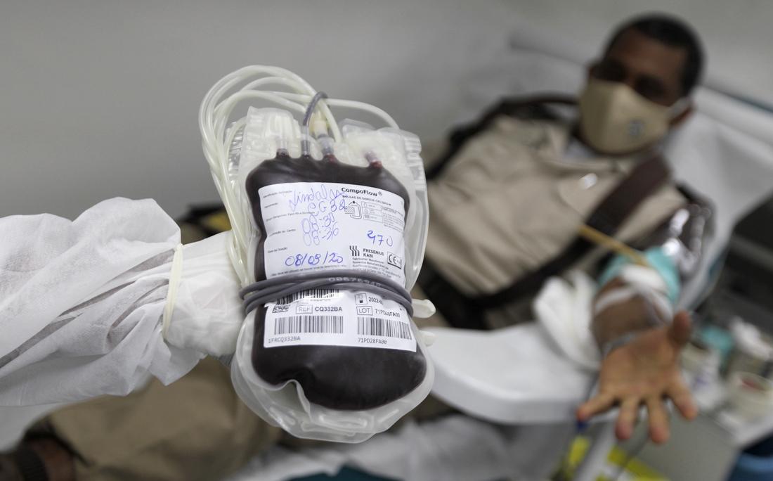O Hemoba chegou a ter um déficit de 40% das bolsas durante a pandemia.