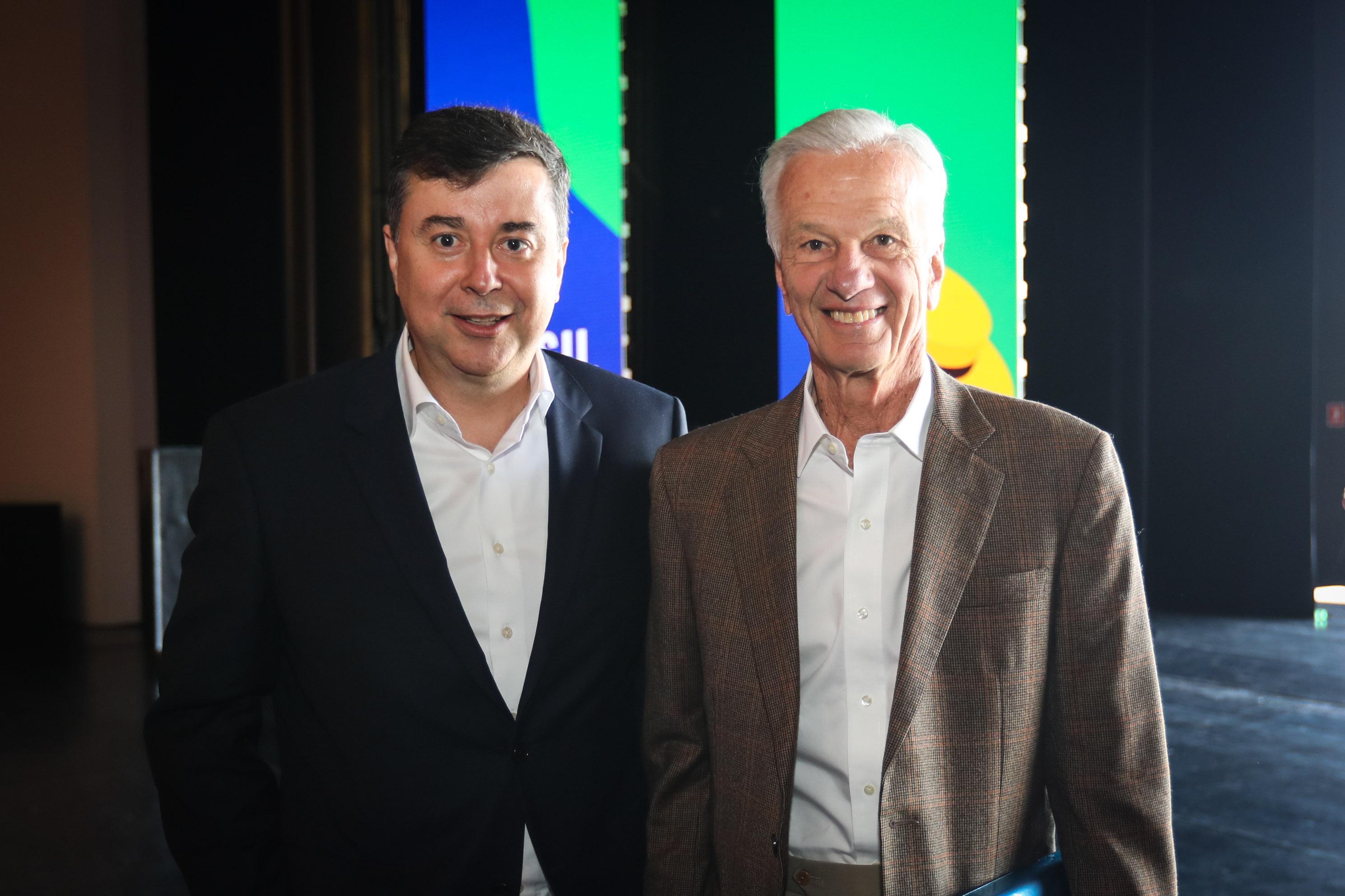 Jorge Paulo Lemann, da Fundação Lemann, com o presidente do Google Brasil, Fabio Coelho (Foto: Divulgação)