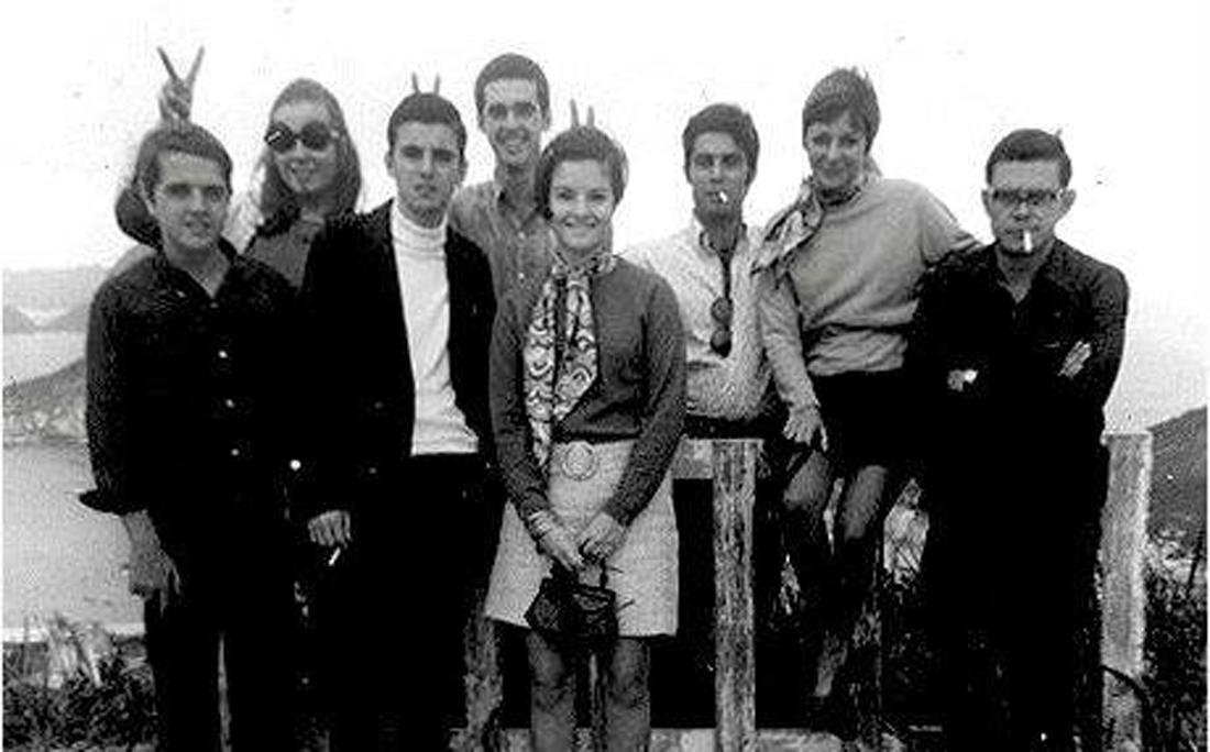 André Setaro e familiares no Cristo Redentor, em 1968.
