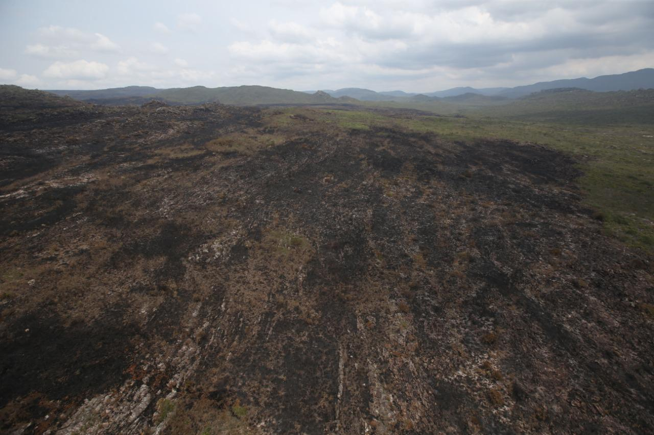 Em sobrevoo, nenhum foco de incêndio foi encontrado