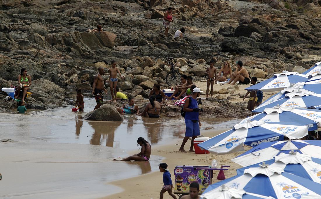 Na Barra, houve aglomeração em alguns pontos. A fiscalização é feita pela Guarda Municipal de Salvador..