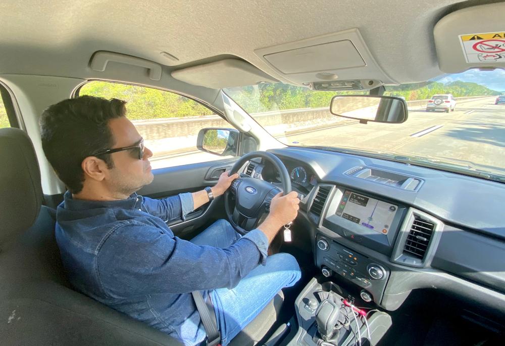 O editor de veículos do CORREIO ao volante da Ranger em passagem pela Paraíba