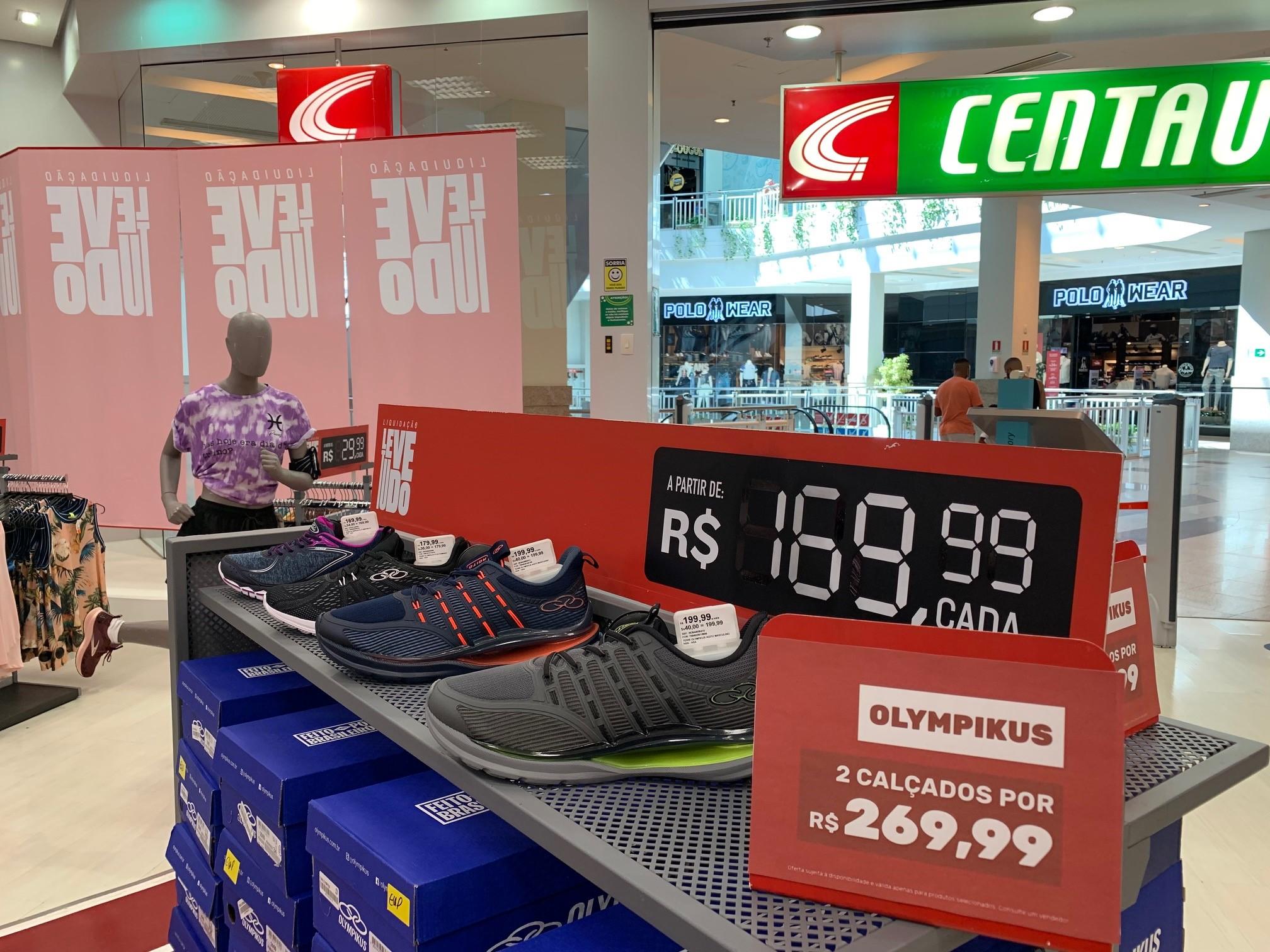 Salvador Norte Shopping: Centauro - Tênis Olympikus, por R$ 169,99; na compra de dois, o total fica R$ R$ 269,99