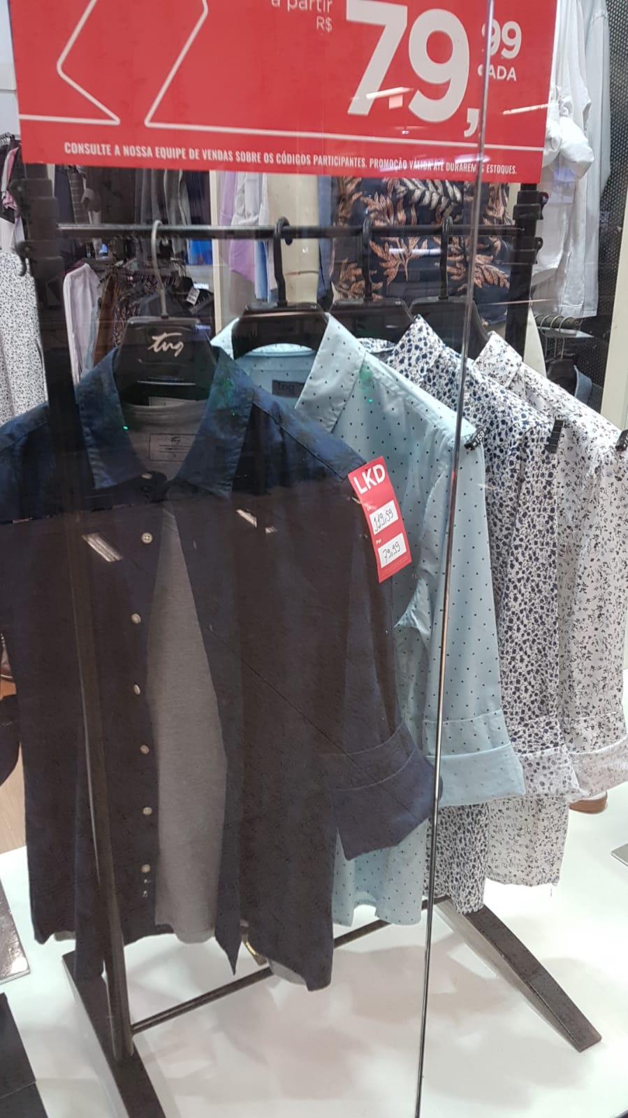 Shopping Barra: TNG - Camisa Social, de R$ 119,99 por R$ 79,99 (33,3% de desconto)