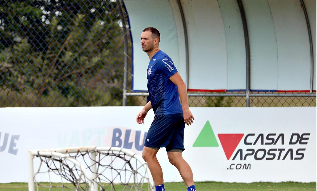 Sem atuar desde novembro, Lucas Fonseca pode voltar a ser titular no Bahia