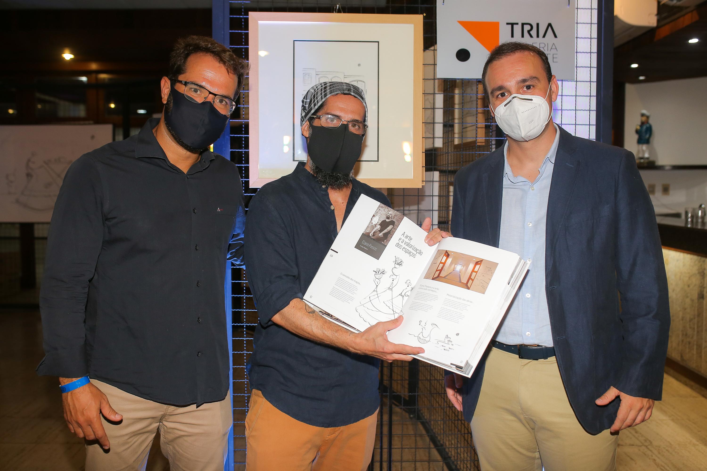Thiago Araújo, Elano Passos e Victor Andrade